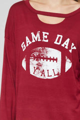 Game Day - long sleeve top- Lucy and Lou Boutique - www.lucyandlou.com