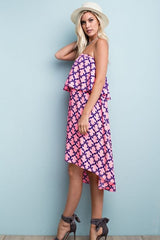 Good Hearted Strapless Midi Dress - Dress- Lucy and Lou Boutique - www.lucyandlou.com
