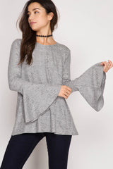 Good Vibes Only Top - long sleeve top- Lucy and Lou Boutique - www.lucyandlou.com