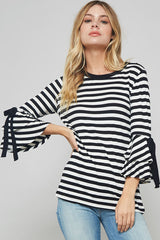 Hello Sunshine Top - 3/4 Sleeve Top- Lucy and Lou Boutique - www.lucyandlou.com