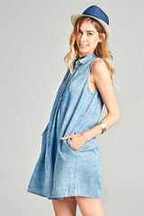 Hold My Hand Chambray Dress - Dress- Lucy and Lou Boutique - www.lucyandlou.com