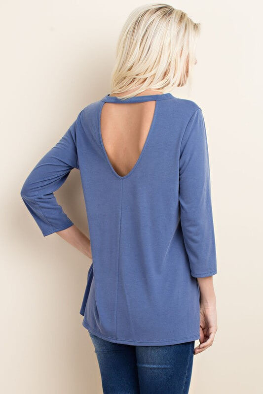 Just In Time 3/4 Sleeve Top - 3/4 Sleeve Top- Lucy and Lou Boutique - www.lucyandlou.com