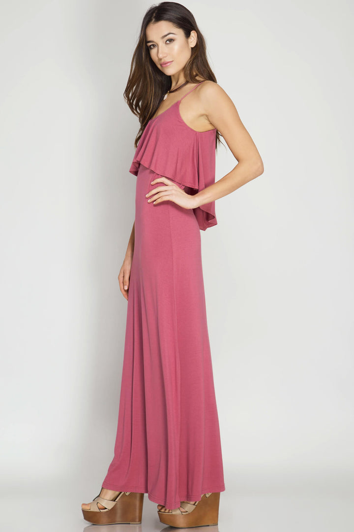 My Island Mauve Maxi - dress- Lucy and Lou Boutique - www.lucyandlou.com