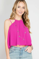 On That Note Crop Tank Top - Tank Top- Lucy and Lou Boutique - www.lucyandlou.com