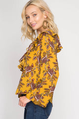 Pretty To Me Top - long sleeve top- Lucy and Lou Boutique - www.lucyandlou.com
