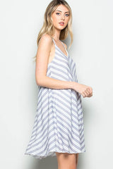 Tried and True Striped Blue Dress - Dress- Lucy and Lou Boutique - www.lucyandlou.com