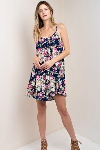 Your Vice Floral Navy Dress - Dress- Lucy and Lou Boutique - www.lucyandlou.com
