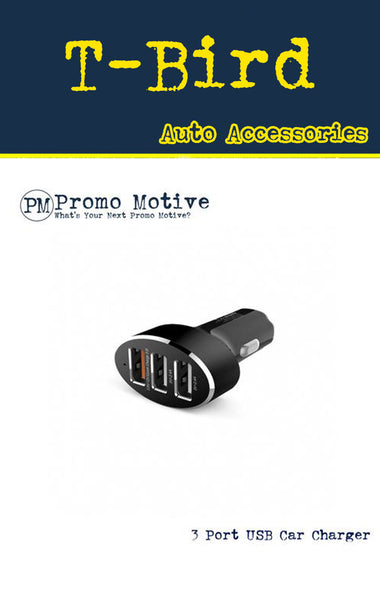 triple port usb car charger for promo swag and b2b giveaway