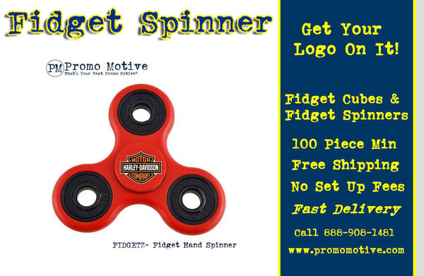 Get your business logo on a fidget spinner
