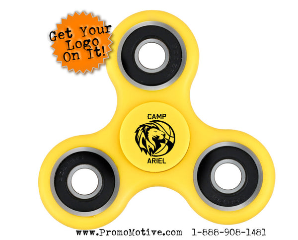 KId Camps get logo fidget spinners for fundraising