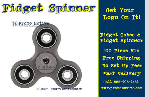 Corporate event planners are keen on imprinted fidget spinners.