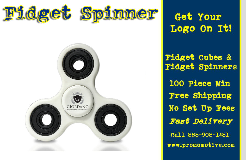 Get imprinted fidget spinners for your next convention or trade show.