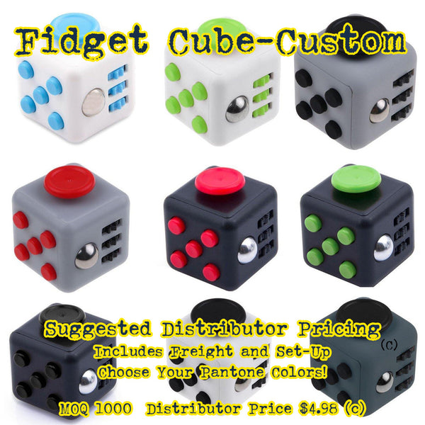 fidget cube custom color pantone matched promotional product