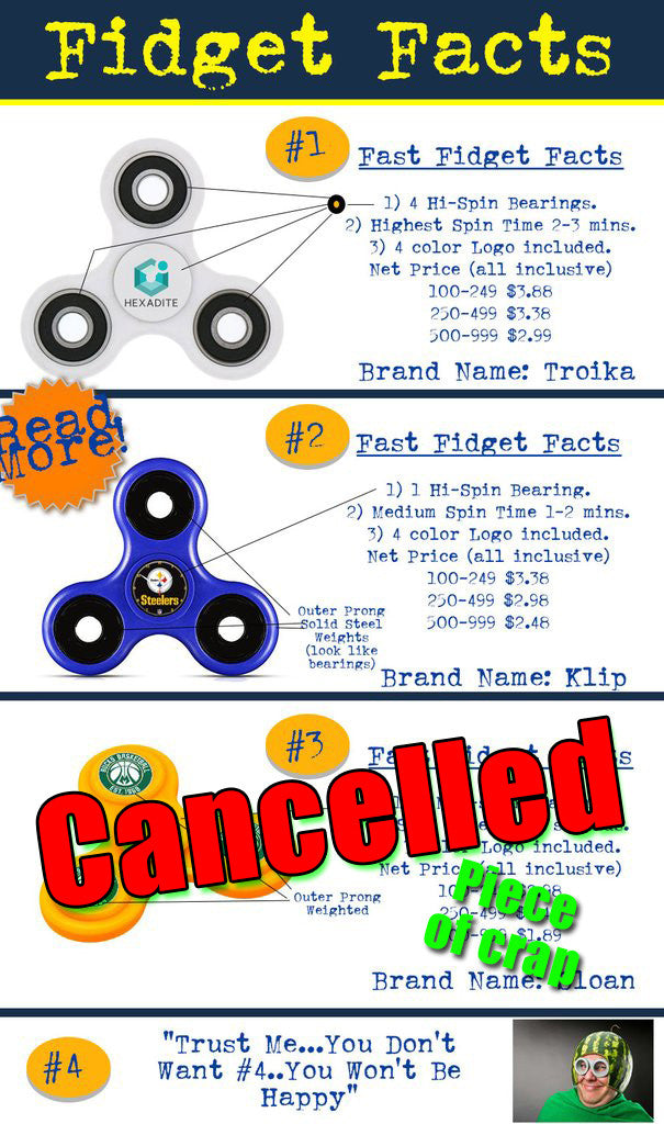 fidget spinner facts and information. Information f fidget spinners for promotional product mrketing