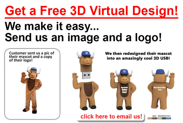 get a free custom flash drive design for your business or promotional marketing campaign.