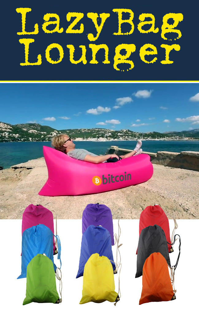 Lazy bag air lounger inflatable sofa for promotional product