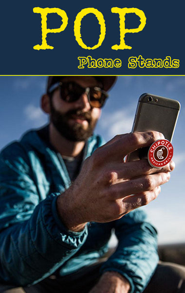 pop grips and socket style phone holders for tradeshow swag