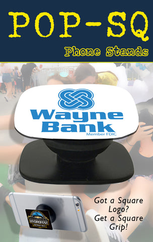 square rectangle pop phone grip for tradeshow swag