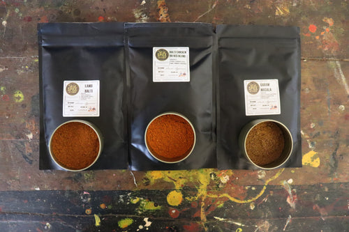'The Curry King'  3 x 100g Spice Gift Set Fresh Balti Curry Classic Blends