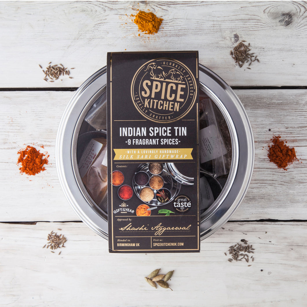 Indian Spice Tin with 9 Spices