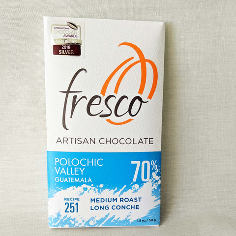 Polochic Valley. 70% cocoa. Medium. By Fresco