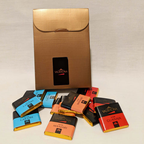 Dark chocolate single-origin tasting squares. SALE. 50% OFF.