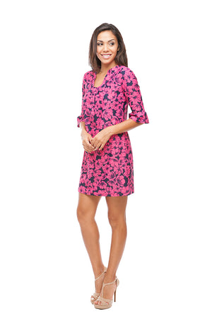Copy of Floral Ruffle sleeve Shift Dress