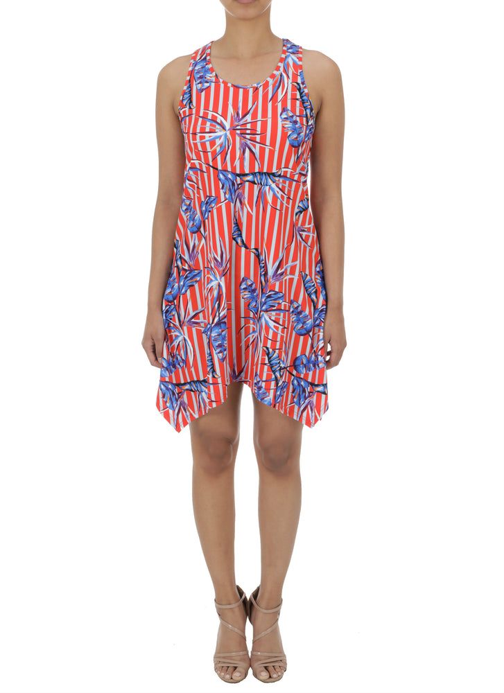 Tropical Stripe  Sleeveless dress