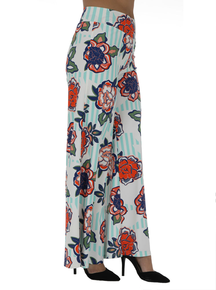 Printed Wide Leg pants - SHOP CLOTH