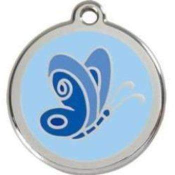 Blue Butterfly Pet ID Tag