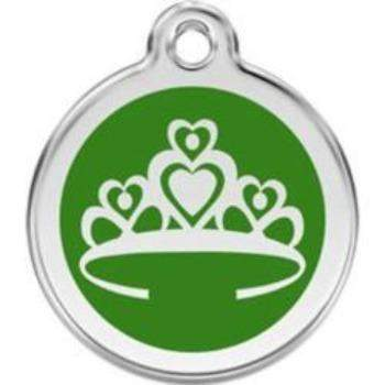 Red Dingo Crown Enamel Pet ID Tag-Paws & Purrs Barkery & Boutique