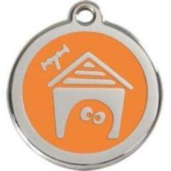 Red Dingo Dog House Enamel Pet ID Tag-Paws & Purrs Barkery & Boutique