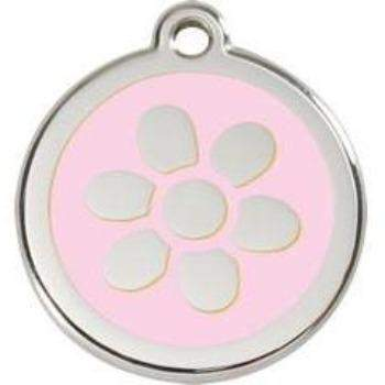 Red Dingo Flower Enamel Pet ID Tag-Paws & Purrs Barkery & Boutique