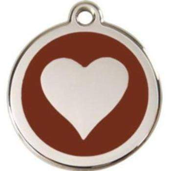 Red Dingo Heart Enamel Pet ID Tag-Paws & Purrs Barkery & Boutique