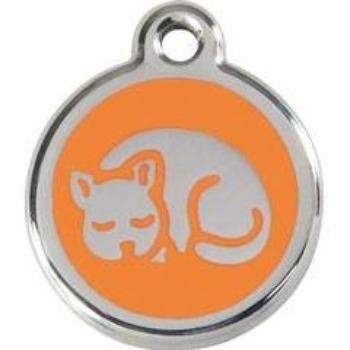 Red Dingo Sleeping Cat Pet ID Tag-Paws & Purrs Barkery & Boutique