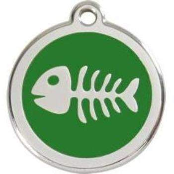 Red Dingo Fish Skeleton Enamel Pet ID Tag-Paws & Purrs Barkery & Boutique