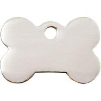 Red Dingo Stainless Steel Bone Shape Pet ID Tag-Paws & Purrs Barkery & Boutique