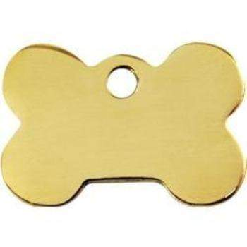 Red Dingo Brass Bone Shape Pet ID Tag-Paws & Purrs Barkery & Boutique
