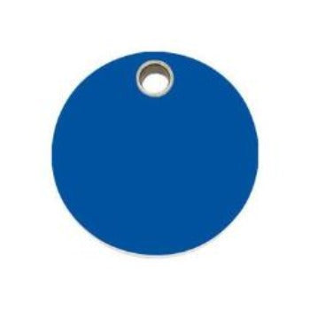 Red Dingo Circle Flat Plastic Pet ID Tag-Paws & Purrs Barkery & Boutique