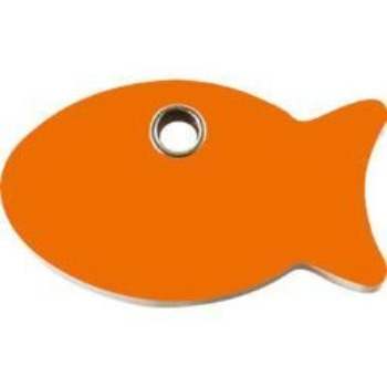 Red Dingo Fish Flat Plastic Pet  ID Tag-Paws & Purrs Barkery & Boutique