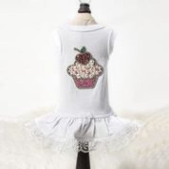 Hello Doggie Pink Lil'  Miss Cupcake Dog Dress-Paws & Purrs Barkery & Boutique