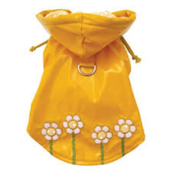 Klippo Polka Dots & Daisies Dog Raincoat-Paws & Purrs Barkery & Boutique