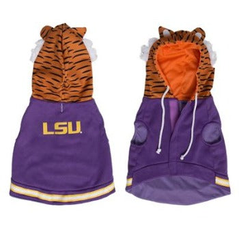 Pet Krewe LSU Mike the Tiger Cat Hoodie-Paws & Purrs Barkery & Boutique