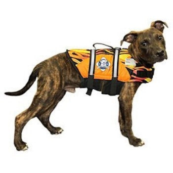 Paws Aboard Racing Flames Dog Life Jacket.-Paws & Purrs Barkery & Boutique