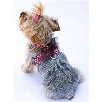 Pink Leopard Parisian Corset Dog Harness