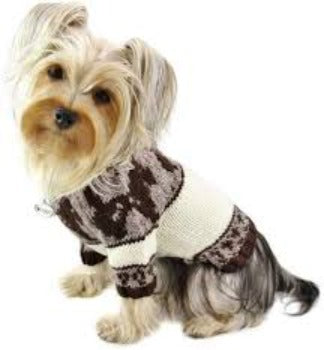 Klippo Brown Doggies Hand Knitted Dog Sweater-Paws & Purrs Barkery & Boutique