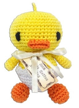 Knit Knacks Hatch the Baby Duck Organic Cotton Dog Toy-Paws & Purrs Barkery & Boutique