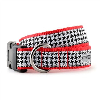 Worthy Dog Black & White Houndstooth Dog Collar-Paws & Purrs Barkery & Boutique