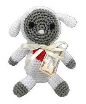 Knit Knacks Fleece the Lamb Organic Cotton Small Dog Toy-Paws & Purrs Barkery & Boutique