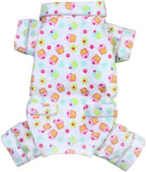 Klippo Cupcakes Fanatics Flannel Dog Pajamas-Paws & Purrs Barkery & Boutique